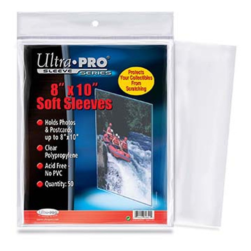 "Ultra Pro 8"" x 10"" Card Sleeve - (50 per pack)"
