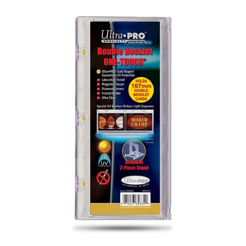 One Touch UV Card Holder - Double Booklet 187mm