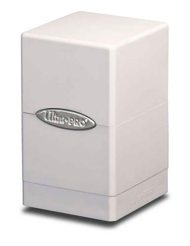 Satin Tower Deck Box - White