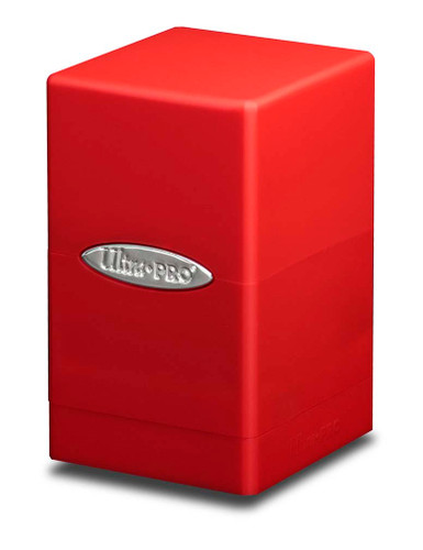 Satin Tower Deck Box - Red