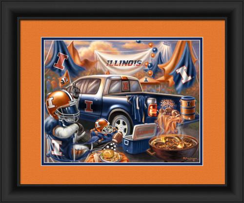 "Illinois Fighting Illini Tailgate Print 15""x18"""