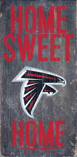 "Atlanta Falcons Wood Sign - Home Sweet Home 6""x12"""