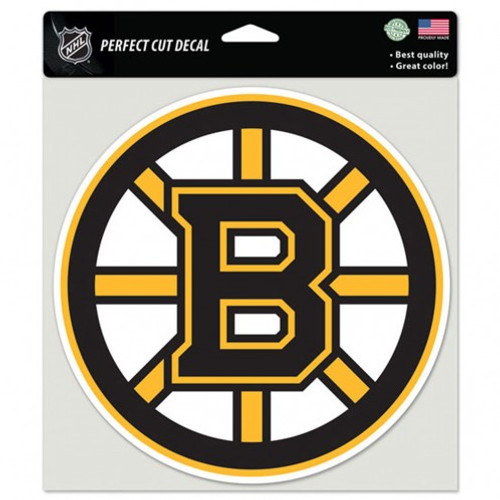 Boston Bruins Decal 8x8 Die Cut Color