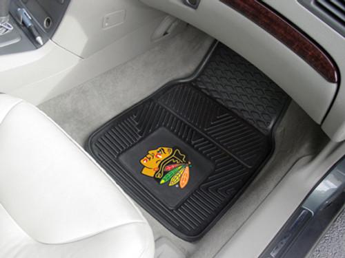Chicago Blackhawks Car Mats Heavy Duty 2 Piece Vinyl