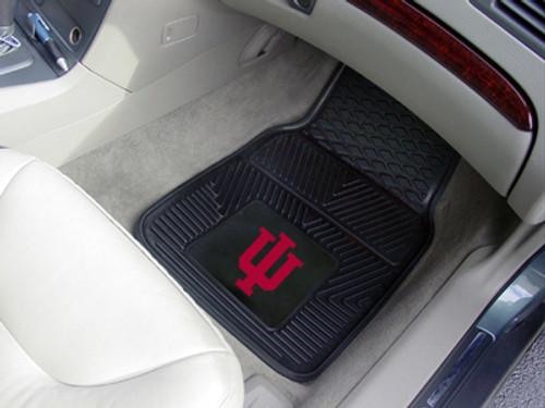 Indiana Hoosiers Heavy Duty 2-Piece Vinyl Car Mats