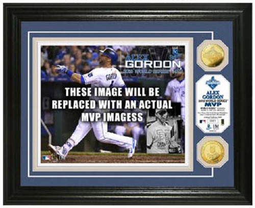 Kansas City Royals Salvador Perez Gold Coin Photo Mint - 2015 World Series MVP