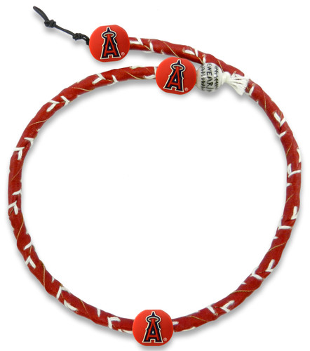 Los Angeles Angels Team Color Frozen Rope Baseball Necklace
