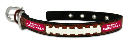 Arizona Cardinals Classic Leather Small Football Collar