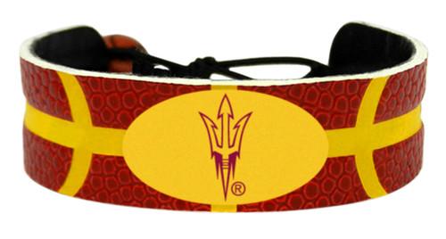 Arizona State Sun Devils Pitchfork Logo Team Color Basketball Bracelet