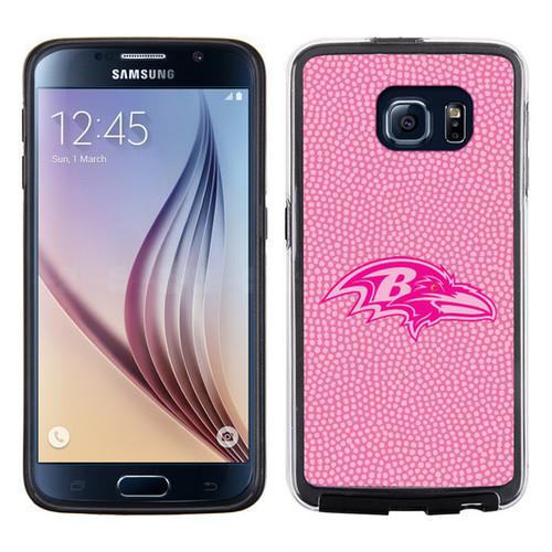 Baltimore Ravens Pink NFL Football Pebble Grain Feel Samsung Galaxy S6 Case