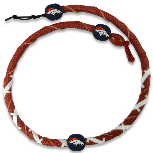 Denver Broncos Classic NFL Spiral Football Necklace