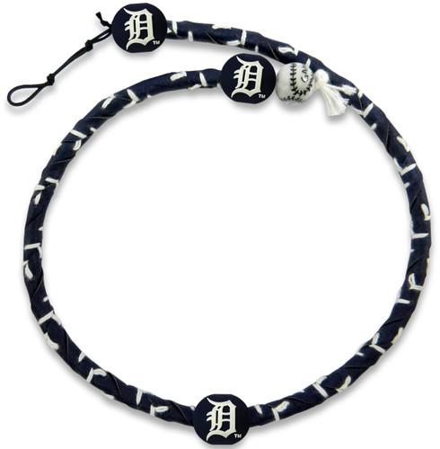 Detroit Tigers Team Color Frozen Rope Baseball Necklace