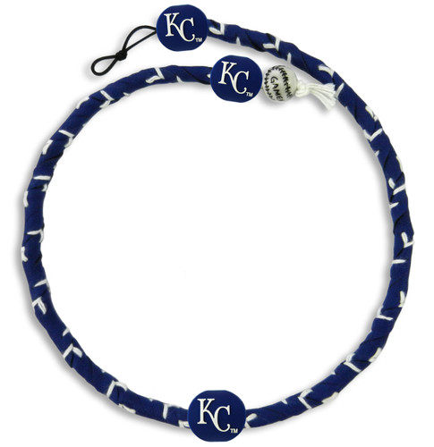 Kansas City Royals Team Color Frozen Rope Baseball Necklace