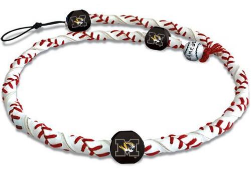 Missouri Tigers Classic Frozen Rope Baseball Necklace