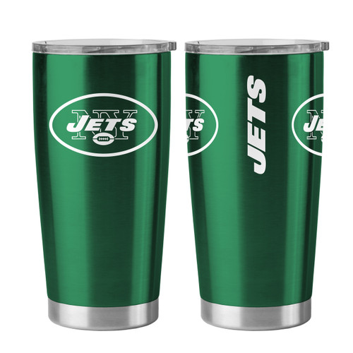 New York Jets Travel Tumbler 20 oz Ultra Flared Green
