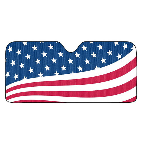 American Flag Auto Sun Shade