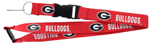 Georgia Bulldogs Lanyard - Red