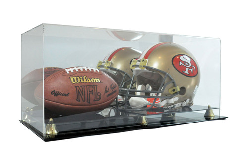 Football & Helmet Deluxe Acrylic Display Case