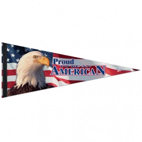 """American Flag Pennant - 12""""x30"""" - Proud To Be American"""