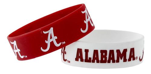 Alabama Crimson Tide Bracelets - 2 Pack Wide
