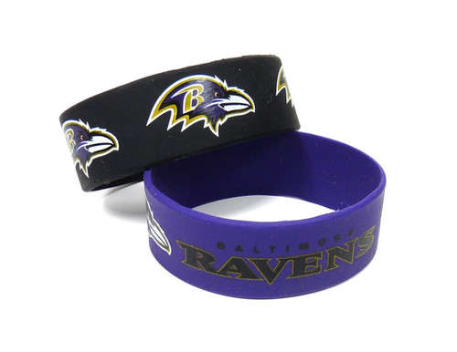 Baltimore Ravens Bracelets - 2 Pack Wide