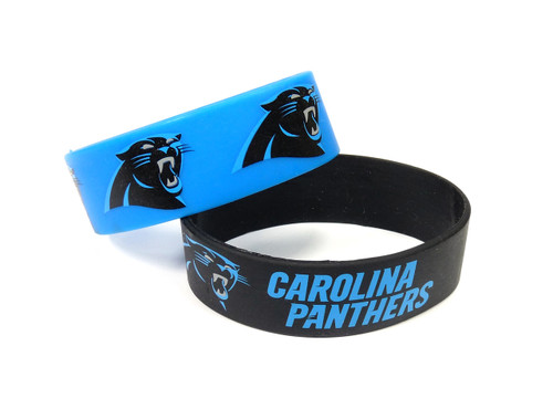 Carolina Panthers Bracelets - 2 Pack Wide