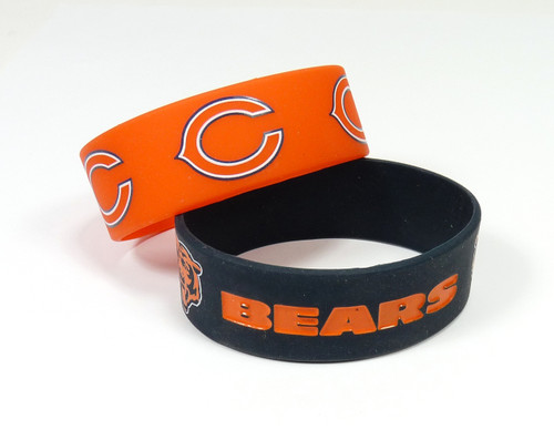Chicago Bears Bracelets - 2 Pack Wide