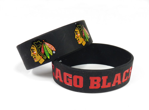Chicago Blackhawks Bracelets - 2 Pack Wide