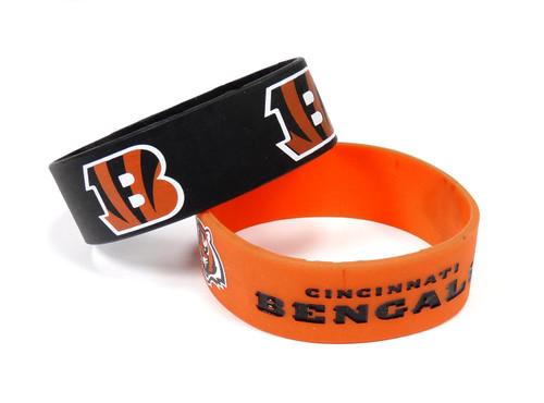 Cincinnati Bengals Bracelets - 2 Pack Wide