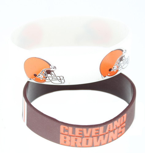 Cleveland Browns Bracelets - 2 Pack Wide
