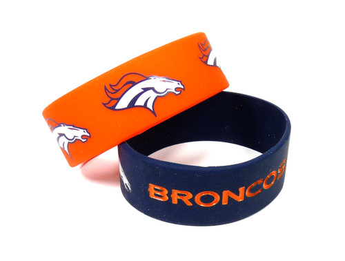 Denver Broncos Bracelets - 2 Pack Wide