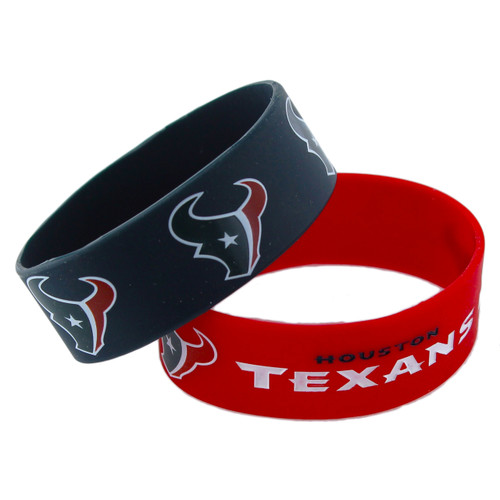 Houston Texans Bracelets - 2 Pack Wide
