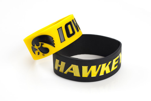 Iowa Hawkeyes Bracelets - 2 Pack Wide