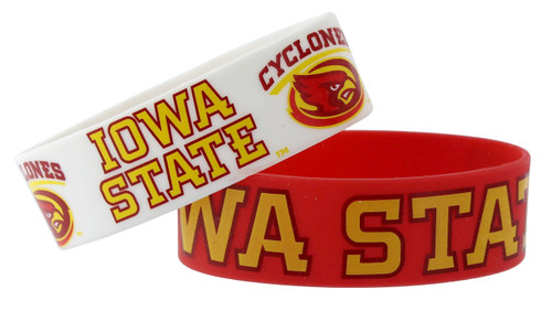 Iowa State Cyclones Bracelets - 2 Pack Wide