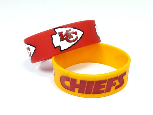 Kansas City Chiefs Bracelets - 2 Pack Wide