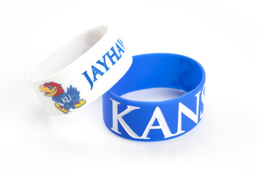 Kansas Jayhawks Bracelets - 2 Pack Wide