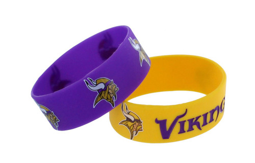 Minnesota Vikings Bracelets - 2 Pack Wide