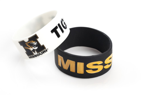 Missouri Tigers Bracelets - 2 Pack Wide