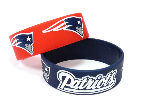 New England Patriots Bracelets - 2 Pack Wide