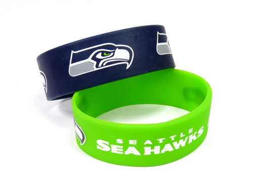 Seattle Seahawks Bracelets - 2 Pack Wide