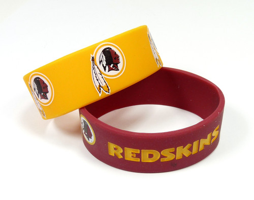 Washington Redskins Bracelets - 2 Pack Wide