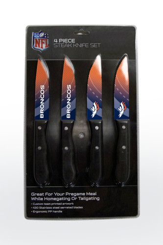 Denver Broncos Knife Set - Steak - 4 Pack