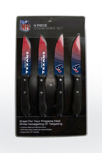 Houston Texans Knife Set - Steak - 4 Pack