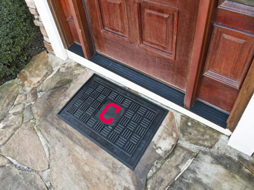 Cleveland Indians Door Mat Medallion 19x30
