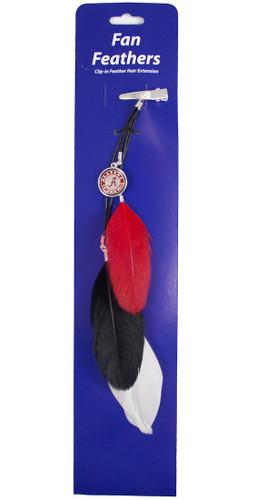 Alabama Crimson Tide Team Color Feather Hair Clip