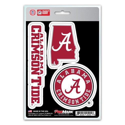 Alabama Crimson Tide Decal Die Cut Team 3 Pack