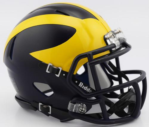Michigan Wolverines Helmet Riddell Replica Mini Speed Style 2016 Painted Design