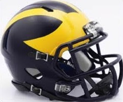 Michigan Wolverines Helmet - Riddell Authentic Full Size - Speed Style - Painted Design