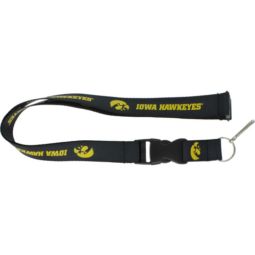 Iowa Hawkeyes Lanyard - Black