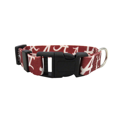 Alabama Crimson Tide Pet Collar Size M